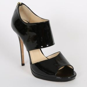 Jimmy Choo Heels Private Patent Leather Back Zip